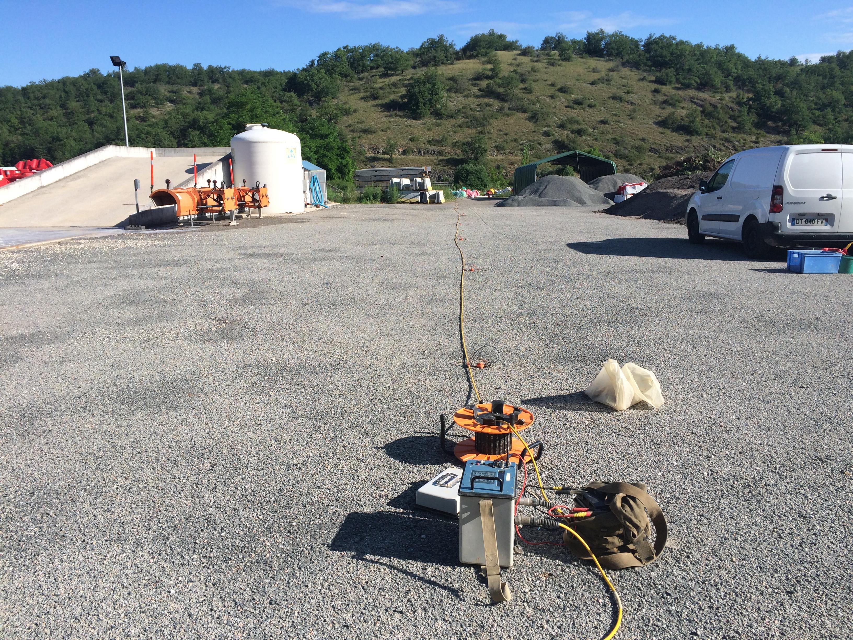 Investigation géophysique sur une ancienne décharge sise sur l'agglomération de Cahors (46)