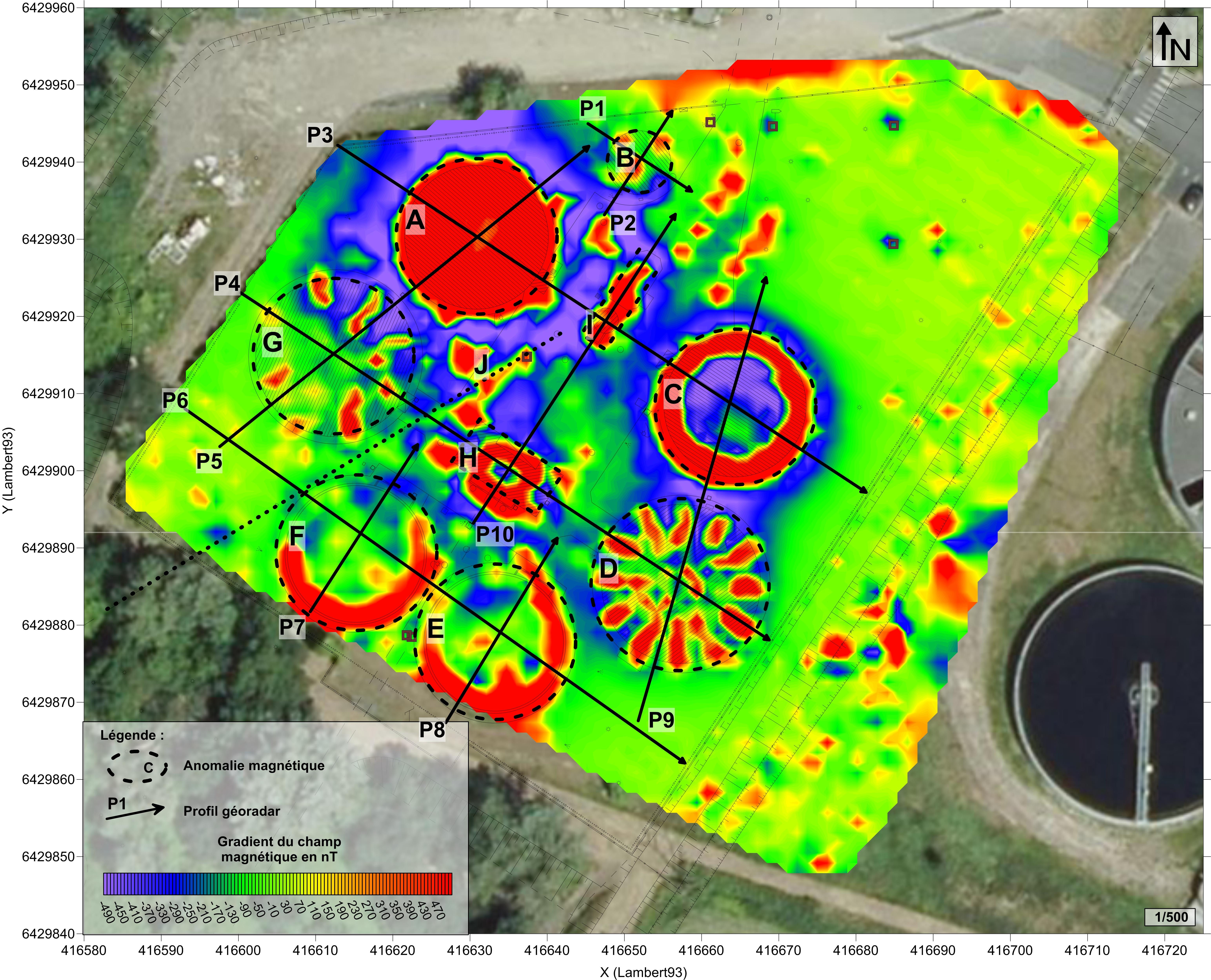 Application des méthodes Géoradar et Gradiomètre dans le cadre de travaux de réhabilitation d'une Station d'Epuration (STEP) sur Blanquefort (33)