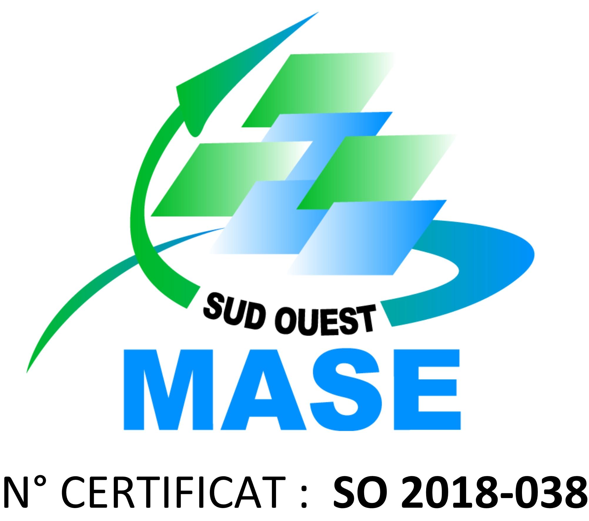Renouvellement de la certification MASE pour 3 ans