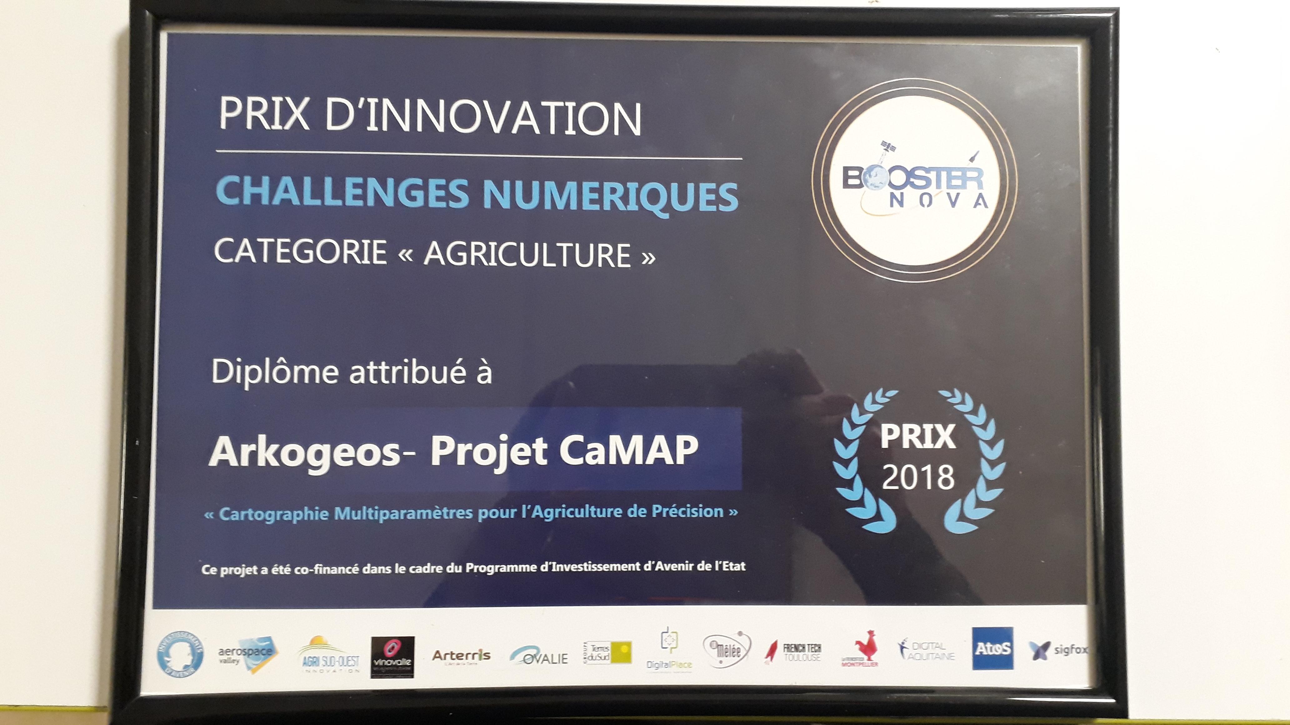 ArkoGéos Lauréat d'un challenge numérique région Occitanie